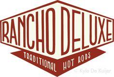 Colour logo for 'Rancho Deluxe' hot rod shop. Kyle De Kuijer