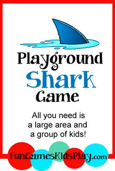 All that is needed is a large playing area ( backyard / park / school yard) and a large group of kids! Easy to learn and lots of fun! Shark Games For Kids, Shark Activities, Activities For Kids, Motor Activities, Physical Education Games, Health Education, Physical Activities, Pe Games, Silly Games