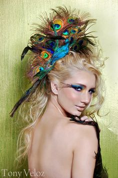 Peacock Hair Accessory