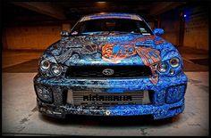 The Coolest Custom Paint Job on a Subaru- by Sideways Auto Salon