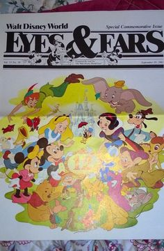 Rare 1983 DISNEY World 12th Anniversary Eyes & Ear Cast Newsletter SPECIAL Issue