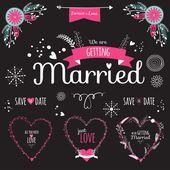 Coleção de casamento romântico — Ilustração de Stock #50162347