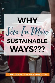 Click to learn why we should eb sewing in more sustainable ways. What are the sustainable fashion options for us the home sewers? #sewing #zerowaste #sustainablefashion Diy Bags From Old Clothes, Sew Your Own Clothes, Sewing Clothes, Diy Bags Patterns, Easy Sewing Patterns, Easy Sewing Projects, Sewing Hacks, Sewing Ideas, Fabric Manipulation Techniques