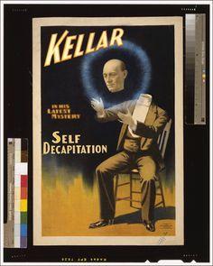 Harry Kellar, self decapitation poster