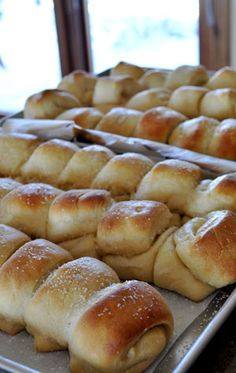 Homemade Parker House Dinner Rolls - wonderful,  buttery, pull apart, delicious rolls.