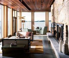Un salon moderne spectaculaire