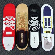 Skateboard Design, The Duff, Skateboards, Pool Slides, Timberland, Deck, Sandals, Shoes, Shoes Sandals