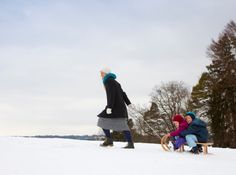 Enjoy the winter weather! Go sledding with the kids