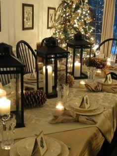 Beautiful table! I love lanterns
