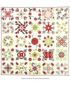 "Flower applique album quilt circa 1850. ""Grandma's Last Quilt"" at Quilts-Vintage and Antique: Debra Lynn Miller"