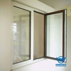 Aluminium profile for casement windows, double colors for inside and outside, powder coating surface treatment.