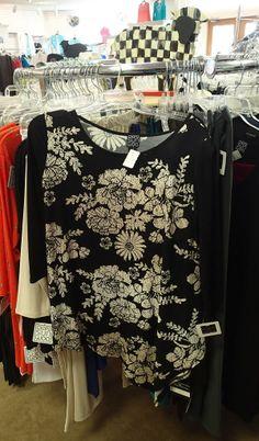 Clara Sun Woo Black/Cream tunic. buy here: http://www.countryewe.com/clara-sun-woo-floral-asymmetrical-tunic-black-cream?productId=1224