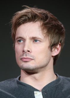 Actor Bradley James speaks onstage during the Damien panel as part of the A+E Network portion of This is Cable 2016 Television Critics Association Press Tour at Langham Hotel on January 6, 2016 in Pasadena, California.