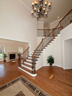 Versailles Model - Open entryway with a curving staircase. Decor, Versailles, Luxury, Staircase, Open Entryway, Luxury Living, Open, Home Decor