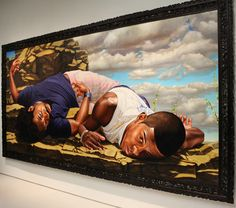 Kehinde Wiley painting - we have this at the Minneapolis Institute of Arts - one of my faves