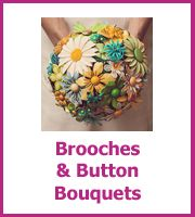 Make Your Own Brooch and button bouquet - Lots Of Wedding Do It Yourself Ideas Cheap Wedding Bouquets, Wedding Flower Decorations, Diy Wedding Flowers, Boho Wedding, Cheap Flowers, Paper Flowers Diy, Diy Paper, Button Bouquet, Princess Wedding