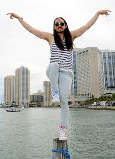 Steve Aoki strikes a Karate Kid pose at Ultra Music Festival 14 at Bayfront Park in Miami on March Devon Aoki, Music Love, Dance Music, Dj Steve Aoki, Miami Music, Alesso, Raver Girl, Alan Walker, Kid Poses