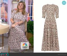 Latest Outfits, Fashion Outfits, Jenna Bush Hager, Today Show, Floral Maxi Dress, Short Sleeve Dresses, Plus Size, Clothes, Beauty