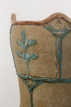 Detail: large Fern vase by Jill Fanshawe-Kato at Devon Guild of Crafsmen #ceramic #pot #devon #craft