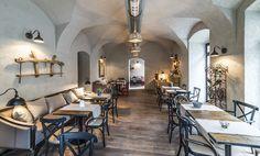 Muura Steakhouse in Cluj Hotel Interiors, Restaurant Bar, Restaurants, Conference Room, Hotels, Interior Design, Table, Inspiration, Furniture