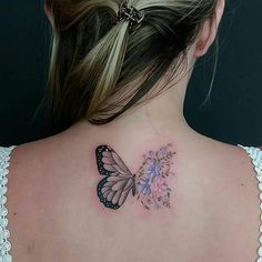 Ideas Tattoo Butterfly Watercolor Tatoo For 2019 Up Tattoos, Trendy Tattoos, Tattoo You, Flower Tattoos, Body Art Tattoos, Small Tattoos, Tattoos For Women, Cool Tattoos, Tatoos