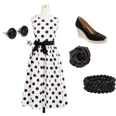 classy black and white, created by kariealdrich on Polyvore