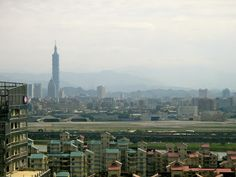 Taipei 101 View from Miramar Ferris Wheel
