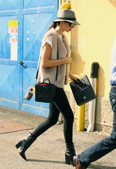 Kendall Jenner sporting this casual ensemble.