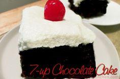 7-up Chocolate Cake http://www.momspantrykitchen.com/7-up-chocolate-cake.html
