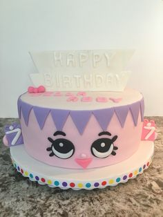 Birthday Betty Shopkins cake