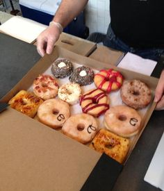 """Former Montreal Canadiens player Mathieu Darche @ matdarche52 tweeted this photo in D.C. at Astro Doughnuts:  """"No calories!!!"""""""