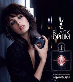 Parfums Yves Saint Laurent  Black Opium -  Sortie Aôut  2014 - Egérie Edie Campbell