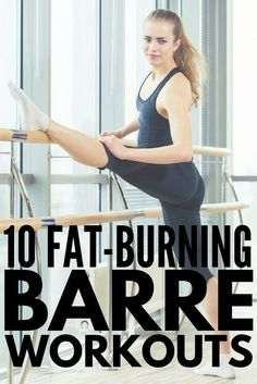 Barre exercises include postures from ballet yoga and pilates and while the moves are slight the benefits and results lean toned muscles can be pretty impressive Perfect. Pilates Workout Routine, Pilates Training, Workout Cardio, Ballet Barre Workout, Barre Workout Video, Barre Exercises At Home, Cardio Barre, No Equipment Workout, At Home Workouts