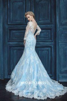 Details about 2016 Blue Cinderella Wedding Dresses Princess ...