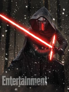 Our cover model, Kylo Ren (played by Adam Driver) strikes a pose with his homemade lightsaber. It turns out, his true identity has been masked from us in more ways than one… #StarWars #TheForceAwakens