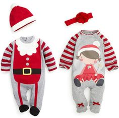 2016 New Christmas Baby Romper Autumn Winter Clothing Sets Baby Boy Girl Clothes Newborn New Year Xmas Man Jumpsuit