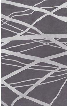 "Rugs USA Keno Collection Calypso Gray Rug -- 7'6"" x 9'6"" on sale for $219 plus free shipping"