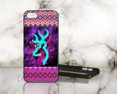Aztec Browning Nebula Purple - Print on Hard Cover - iPhone 5 Case - iPhone 4 / 4s Case - Samsung Galaxy S3 case - Samsung Galaxy S4 case