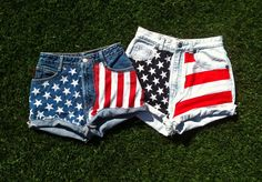 American Flag DIY shorts