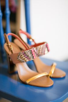 Simple Embroidered Chunky Heels: http://www.stylemepretty.com/2015/06/11/20-chic-shoes-that-wont-sink-in-the-grass/