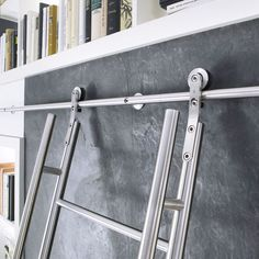 Sliding ladder SCHIEBELEITER KLASSIK MWE Edelstahlmanufaktur