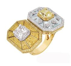 Chanel -The Soleil d ' Automne ring in the use of color is very bold, by surprise to break the color balance, thereby creating the harmony of the one and only. Round and irregular geometric shape with light reflecting collision, Diego, interweave a dreamlike harmonious rhythm.