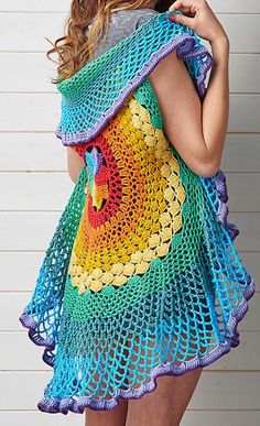 How to Crochet Our New Favorite Spring Accessory - circle vest crochet patterns