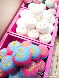 bathbombs. I live lush!!!! Bathbombs make your skin so soft!