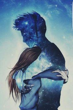 Картинка с тегом «love, hug, and couple»