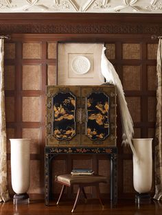 George III Oriental Lacquer Cabinet from the Baker Furniture Stately Homes collection.