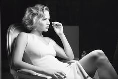 Jennifer Lawrence, behind-the-scenes for Dior Addict, 2015.