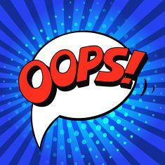 Oops! - Comic Speech Bubble, Cartoon pop art vector art illustration