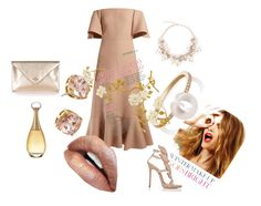 """""""Glamorous"""" by kvokopola ❤ liked on Polyvore featuring Valentino, Christian Dior, Sophie Bille Brahe, Giuseppe Zanotti, Vivienne Westwood, Tory Burch and Celestine"""