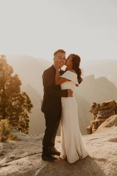 Rochelle and Jeffrey had planned a bigger wedding in San Francisco but changed their plans last minute to a Yosemite elopement at Glacier point. We did their elopement at Glacier point and ended their yosemite elopement at Taft point #yosemiteelopement #yosemiteelopementideas #weddingphotography Elope Wedding, Wedding Ceremony, Got Married, Getting Married, Taft Point, Glacier Point, Yosemite Wedding, Sunset Photos, Wedding Photos